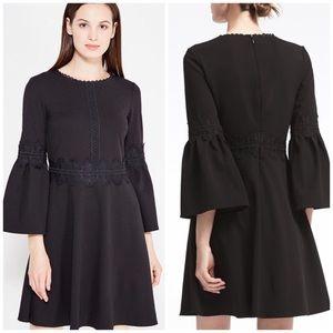 NWT Banana Republic Black Bell Sleeve Lace Dress